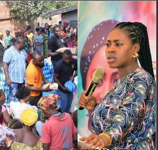 Meet Popular Nigerian Prophetess, A Multidimensional Philanthropist, as she slashed million on less privileged in Nassarawa [Watch Video]